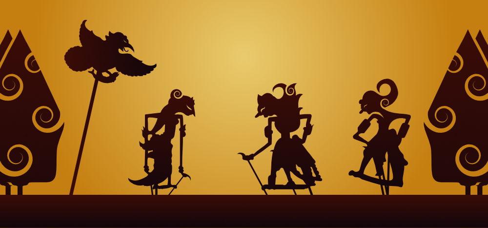 Javanese Wayang shadow puppets