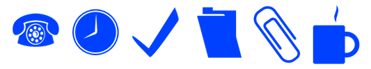 Illustration of office work items