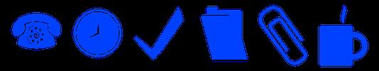 Illustration of office work items