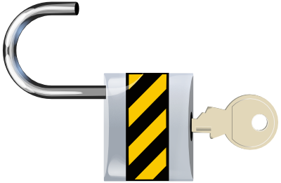 Open padlock illustrating unlocking you potential