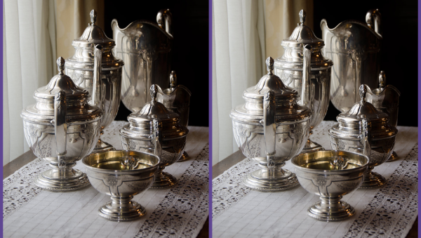 Well crafted silver service illustrating Forseti Tech's quality services
